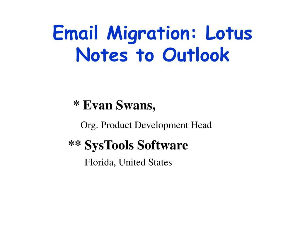 email migration lotus notes to outlook l.
