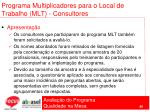 programa multiplicadores para o local de trabalho mlt consultores