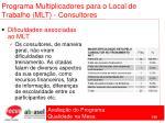 programa multiplicadores para o local de trabalho mlt consultores100