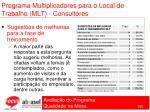 programa multiplicadores para o local de trabalho mlt consultores101