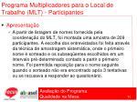 programa multiplicadores para o local de trabalho mlt participantes71
