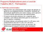 programa multiplicadores para o local de trabalho mlt participantes73