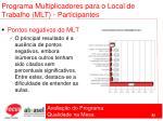 programa multiplicadores para o local de trabalho mlt participantes82