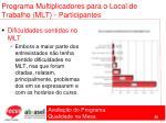 programa multiplicadores para o local de trabalho mlt participantes86