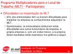 programa multiplicadores para o local de trabalho mlt participantes88