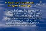 o papel das incubadoras no apoio a start ups