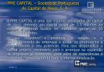 pme capital sociedade portuguesa de capital de risco s a