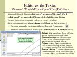 editores de texto microsoft word ms ou openoffice broffice