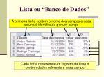 lista ou banco de dados120