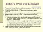 redigir e enviar uma mensagem