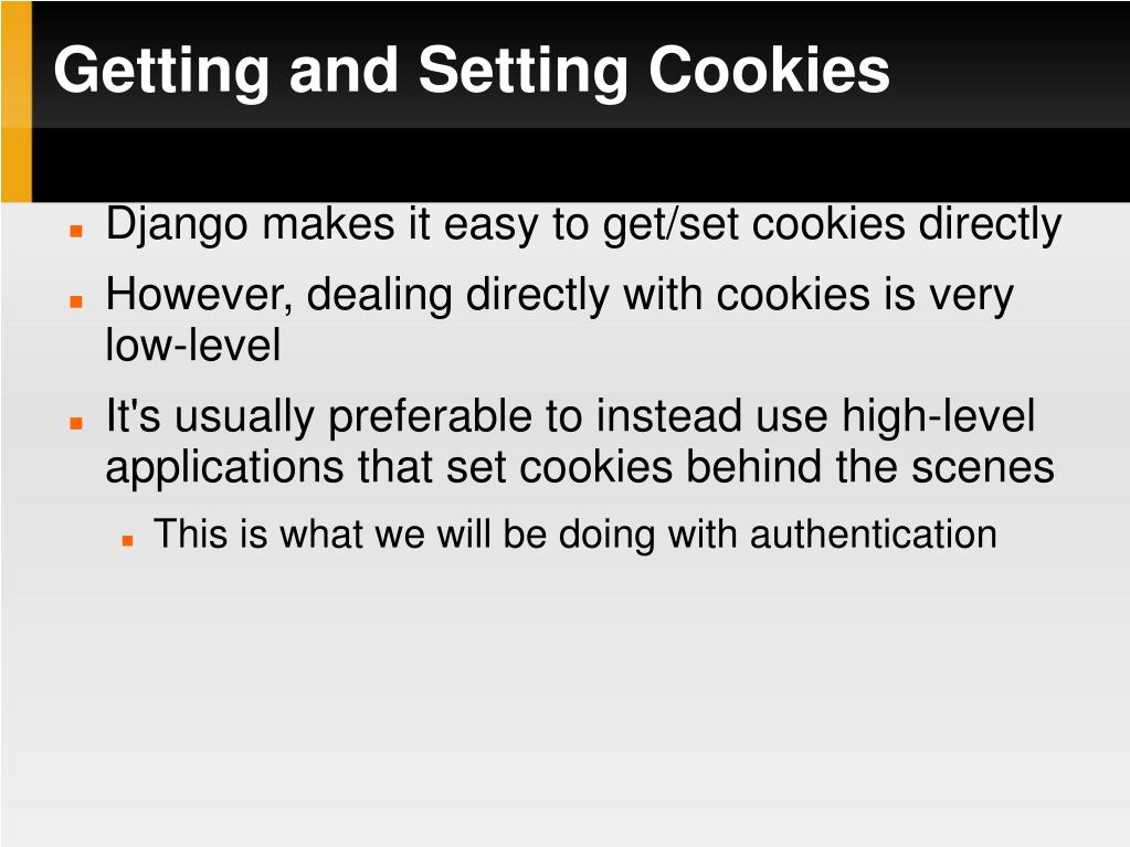 Getting and Setting Cookies