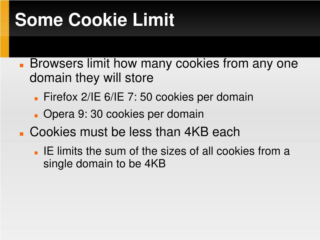 Some Cookie Limit