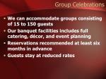 group celebrations