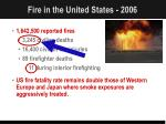 fire in the united states 2006