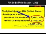 fire in the united states 200641