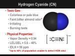 hydrogen cyanide cn