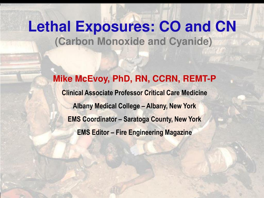 lethal exposures co and cn carbon monoxide and cyanide l.