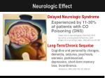 neurologic effect