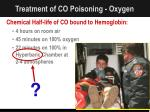 treatment of co poisoning oxygen