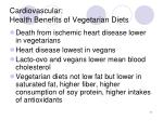 cardiovascular health benefits of vegetarian diets