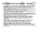 for additional information books