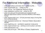 for additional information websites