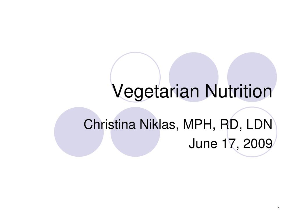 vegetarian nutrition l.