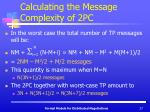 calculating the message complexity of 2pc