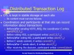 distributed transaction log