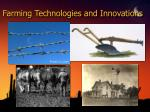 farming technologies and innovations