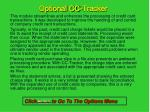 optional cc tracker