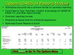 optional gasb 34 reports module