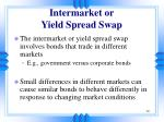intermarket or yield spread swap