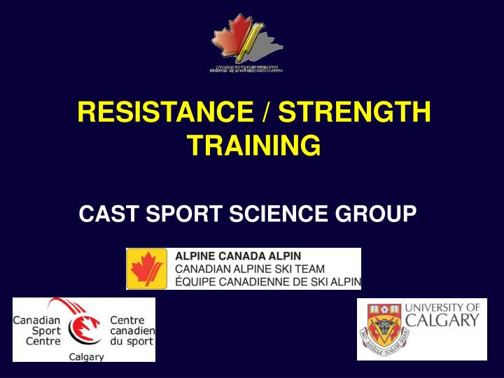 resistance strength training n.