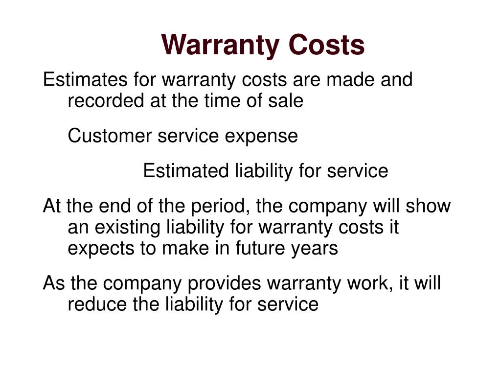 Warranty Costs