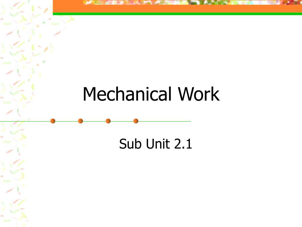 mechanical work l.
