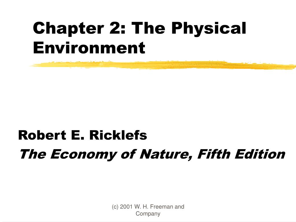 chapter 2 the physical environment l.