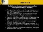 belief 10