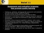 belief 11