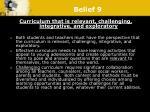 belief 9