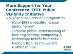 more support for your conference ieee public visibility initiative
