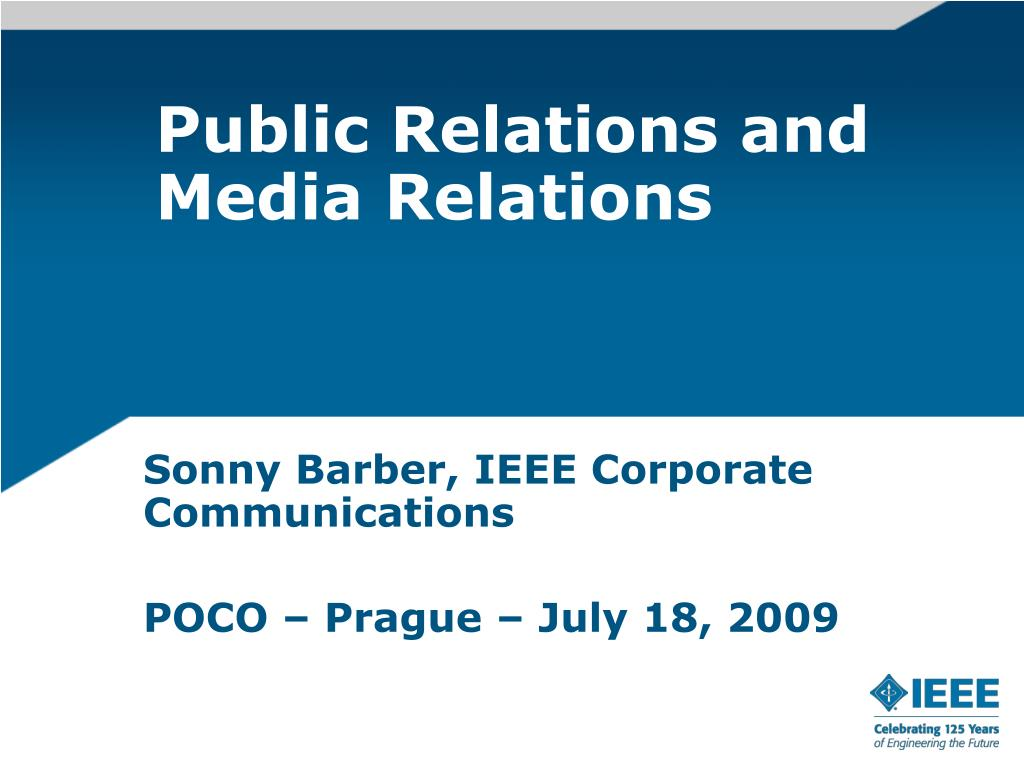 public relations and media relations l.