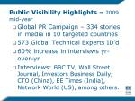 public visibility highlights 2009 mid year