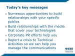 today s key messages