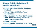 using public relations media relations