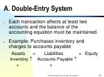 a double entry system