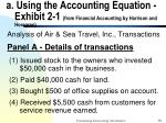 a using the accounting equation exhibit 2 1 from financial accounting by harrison and horegren
