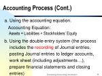 accounting process cont