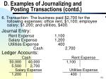 d examples of journalizing and posting transactions contd24