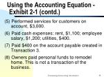 using the accounting equation exhibit 2 1 contd